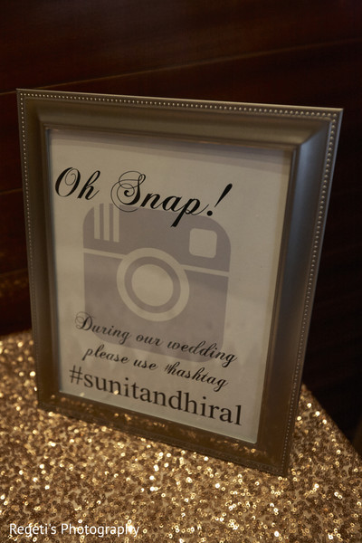 Lovely indian wedding hashtag sign. in Herndon, VA Indian Wedding by Regeti's Photography