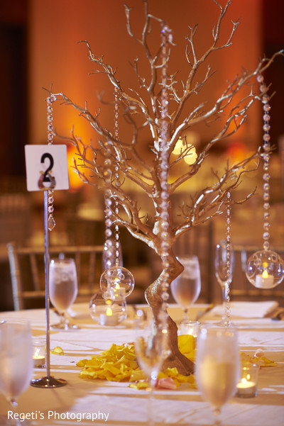 indian wedding reception,indian weddings,centerpieces