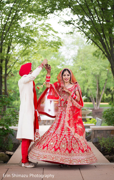 red and gold sari,indian groom sherwani,red turban