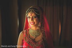 south asian bridal portrait,