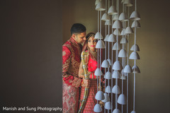 first look south asian wedding portrait