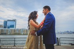 south asian wedding reception outdoors