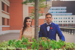 Indian bride and groom reception