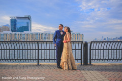 Outdoor reception portrait