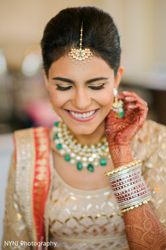 South asian bridal portrait anita dongre outfit