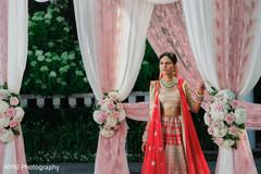 South asian bridal portrait at mandap