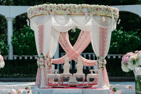 outdoor indian wedding mandap,outdoor indian wedding design,outdoor indian wedding decor,outdoor mandap for indian wedding,indian wedding mandap,indian wedding man dap,indian wedding design,indian wedding ceremony,chic mandap,blush mandap,canopy mandap,marquee mandap,lace drapes on mandap