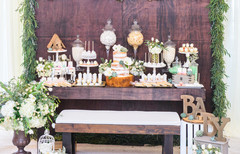 Beautiful baby shower theme candy station