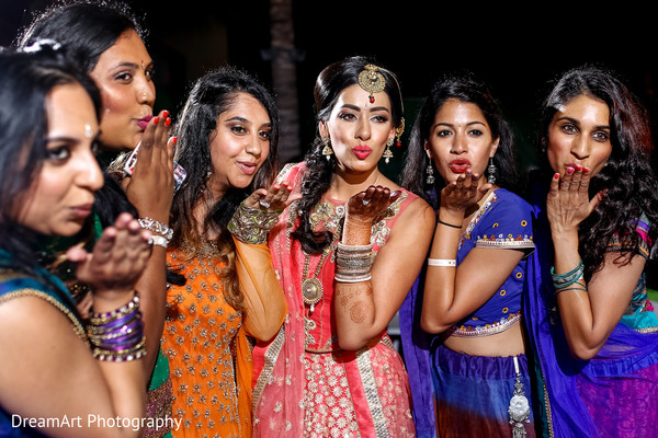 indian pre-wedding celebrations,indian bride,indian bridesmaids