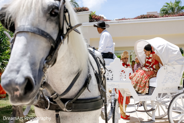 white carriage,indian wedding transportation,indian wedding ceremony