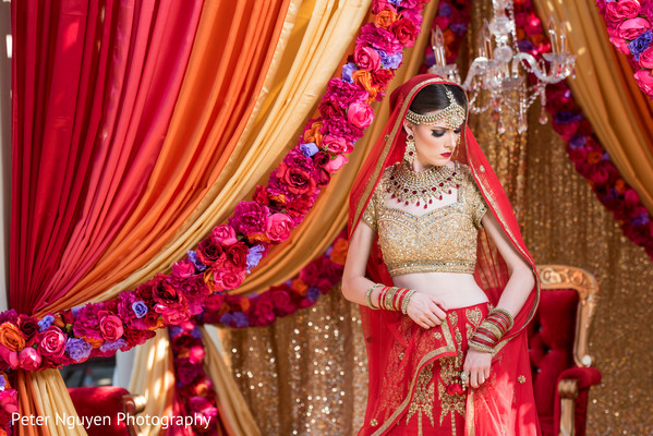 Red and Gold Wedding Lengha