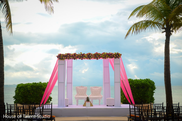 Beachside Indian Wedding Mandap