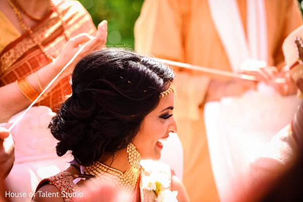 Bride at Beachside Wedding