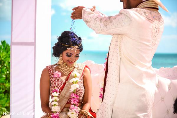 Indian Bride at Beachside Wedding