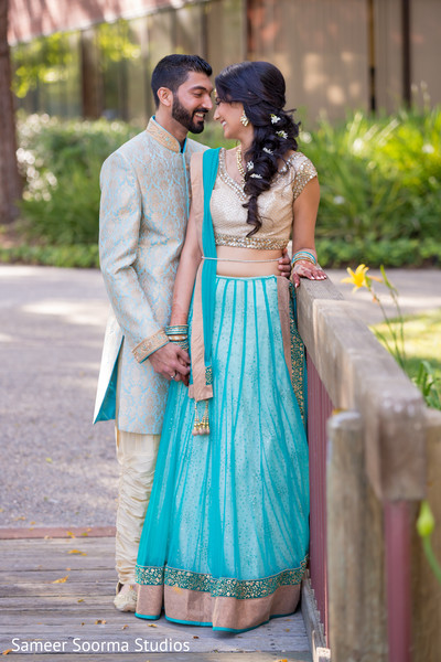 Sweet indian bride and groom couple portrait. | Photo 83846