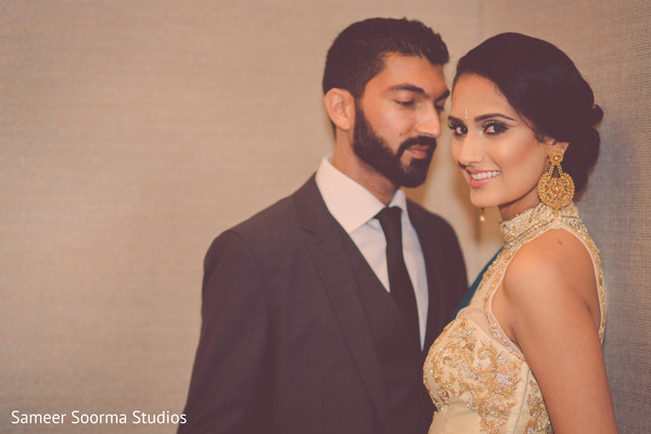 indian bride and groom,pre-wedding reception photography
