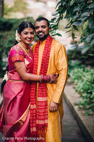 South Indian wedding portrait