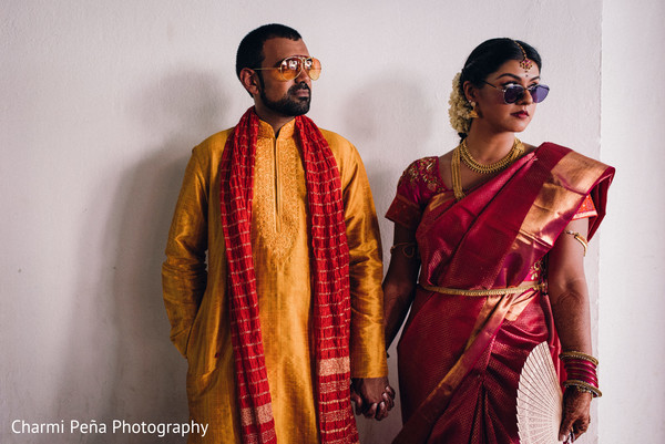 Traditional south Indian couple