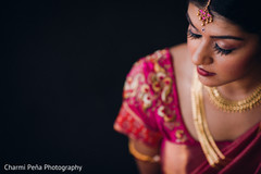 Portrait of South Indian bride