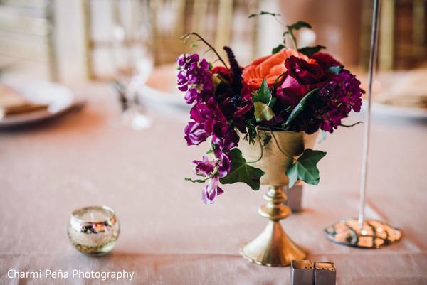 Indian reception table decor