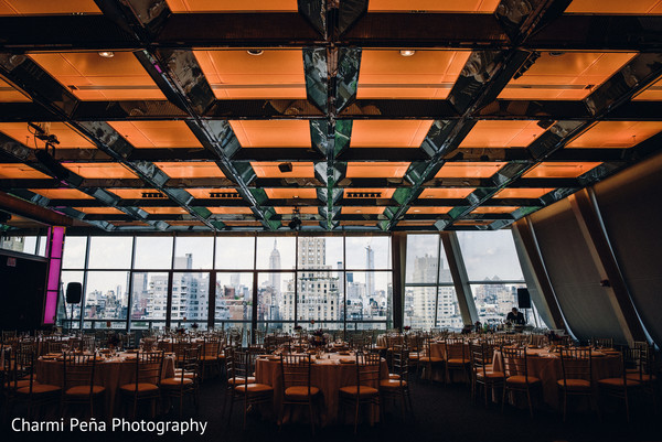 Beautiful Indian reception venue in New York City, NY, Indian Wedding by Charmi Peña Photography