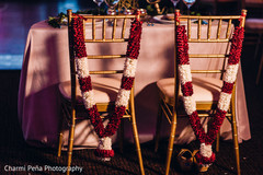 reception d?cor,floral and d?cor,indian wedding decorations,indian bride getting ready,indian weddings,chiavari chairs,gold chiavari chairs reception,south indian reception chairs
