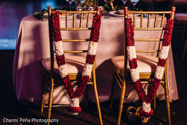 Chiavari chairs at South Indian reception