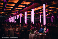 indian wedding ballroom,ballroom for indian wedding,ballroom for indian wedding reception,indian wedding reception venue,indian wedding venue,indian weddings,purple lighting indian reception,indian wedding lighting