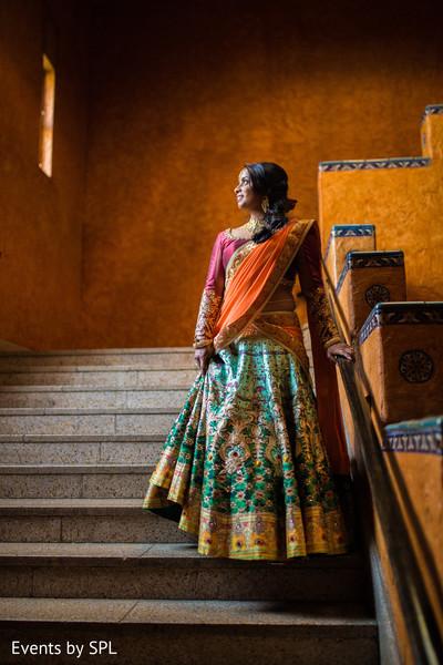 south asian bride sangeet portrait