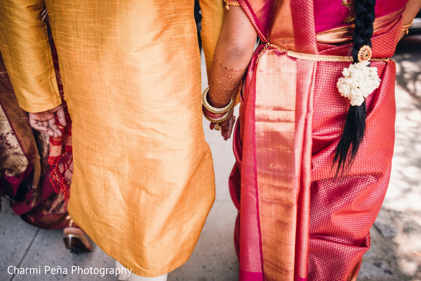 South Indian couple walking