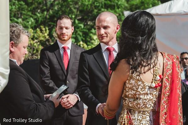 Indian Bride and Groom Fusion Wedding Portrait