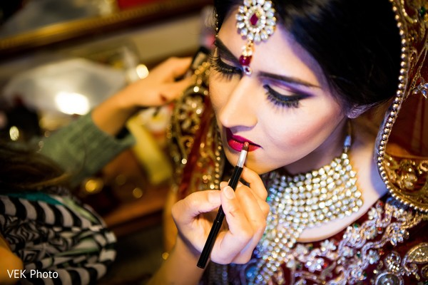 indian bride hair and make-up,indian bride getting ready