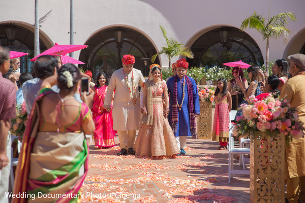 wedding entrance,indian bride,indian wedding ceremony