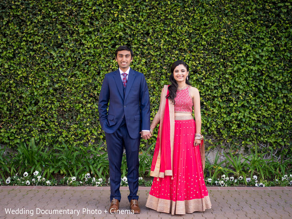 Lovely Indian Couple In Their Pre Wedding Reception