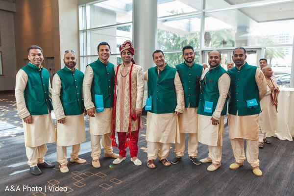 Raja with groomsmen