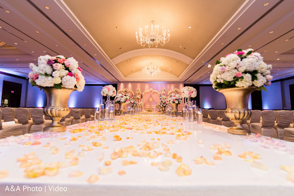 Gorgeous floral decor for Indian wedding
