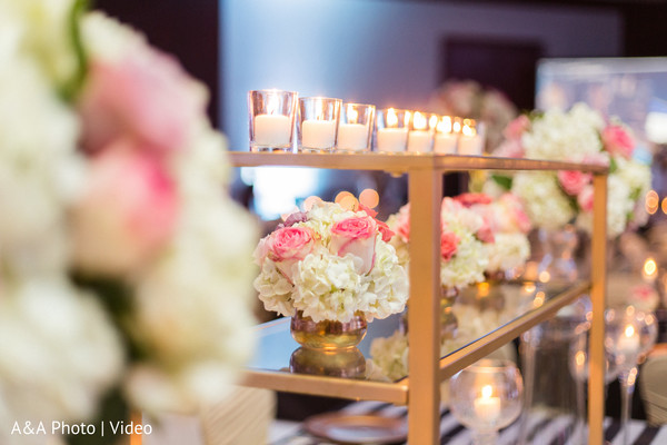 Beautiful details for Indian wedding reception