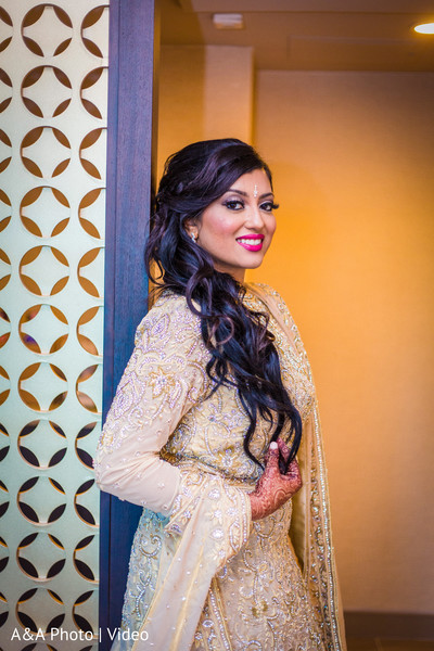 Lovely maharani in her reception gown