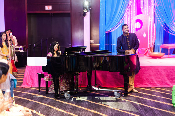 musician bride,piano,indian sangeet