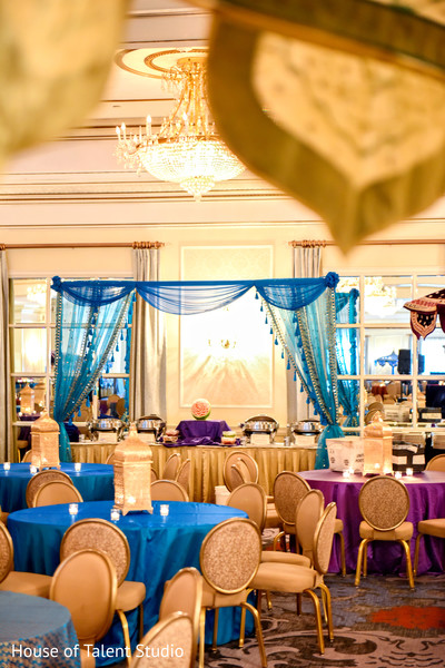 Beautiful and colorful sangeet decor