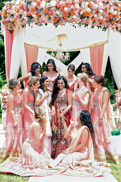 maharani,indian bridesmaids,indian sari
