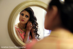 Indian Bride Getting Ready, Indian Bride Fashion, Getting Ready, Indian Bridal Lengha, Indian Bride