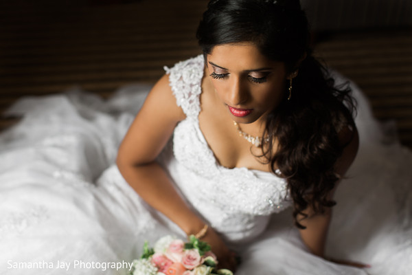 indian bride,indian wedding portrait,indian bridal fashions,bride wearing white dress