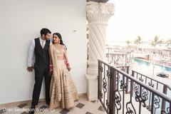 Elegant Maharani and Raja wedding portrait.