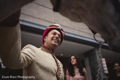 Indian groom's baraat.