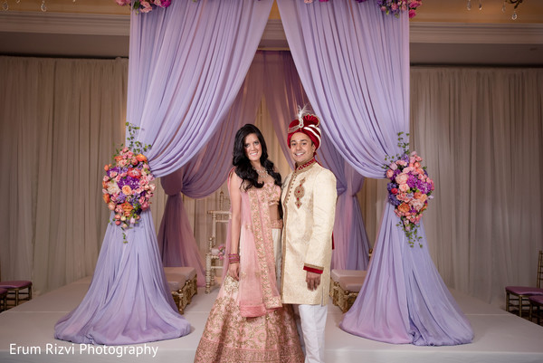indian wedding ceremony floral and decor,indian wedding mandap,indian bride and groom