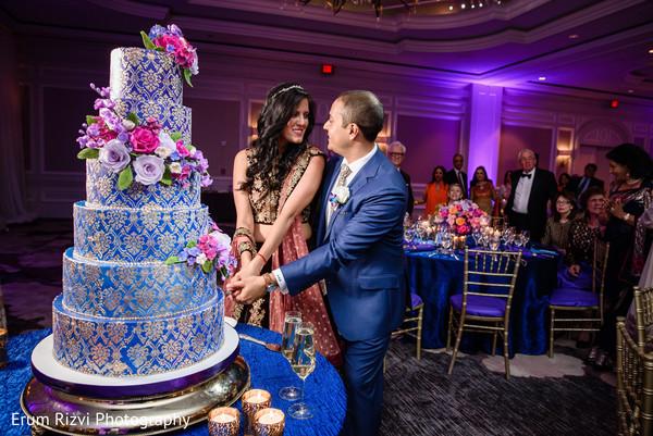 Indian wedding cake cutting.