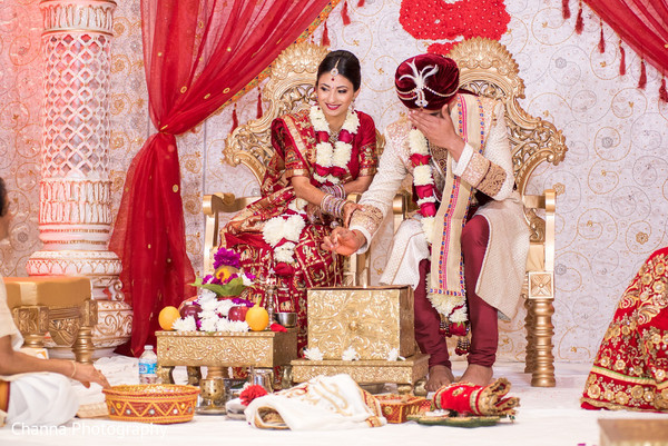 indian wedding,indian wedding portraits,south asian wedding portraits,indian bride,indian bride and groom wedding day portrait,indian wedding ceremony venue,indian wedding venue