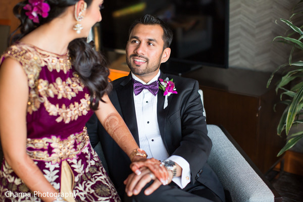 Indian Bride and Groom Reception Portrait