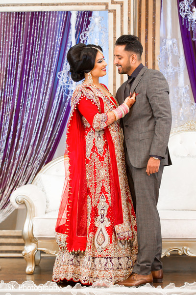 Sikh wedding reception portrait